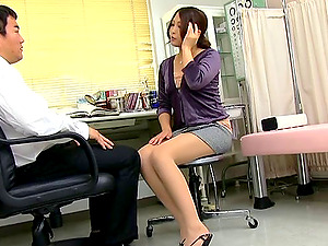 Aoi Miyama Deep throating Her Manager Gonzo In The Office