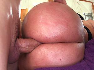 Tattooed Latina Dame In Pantyhose Displaying Her Hot Bum