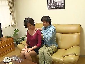 sugary japanese cowgirl gives super-cute oral pleasure and rails jizz-shotgun