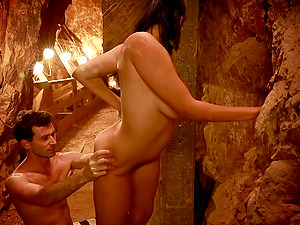 Sexy brown-haired Missy Martinez likes rear banging in a cave