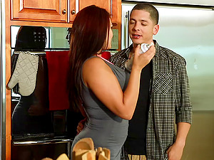 Mackenzee Pierce loves some crazy banging in the kitchen