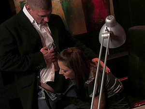 Maria Bellucci gets banged and facialed in an office