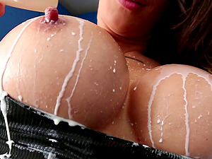 Pretty pornography starlet with a sexy tattooed figure luving a hard-core cowgirl style fuck