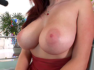 Dick greedy dark-haired chick with big tits gets fucked after BJ