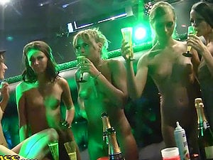 Nude Chicks in the Club Fucking a Stripper