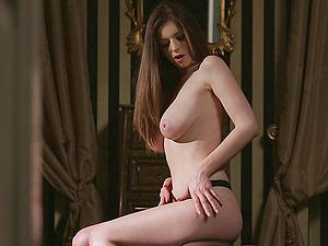 Kinky hot bootie sweetheart Stella Cox in nasty vagina frigging in onanism