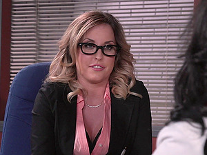 Delicious big tit blonde getting her snatch ravished in the office