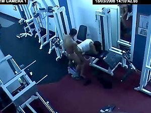 A horny duo attempts fresh sport equipment in the gym