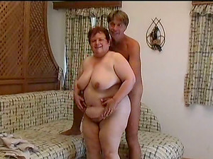 Fat sandy-haired rails dick with her soaking moist granny snatch