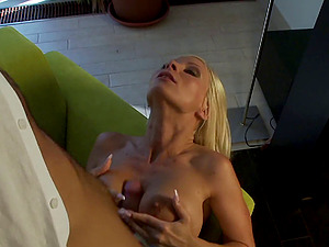 Lengthy haired blonde gets her ass fucking jammed with a schlong