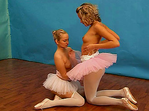 This horny ballerina wants her vagina spread with a fuck stick