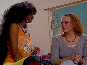What a lovely interracial lezzies scene along horny and uber-cute chicks