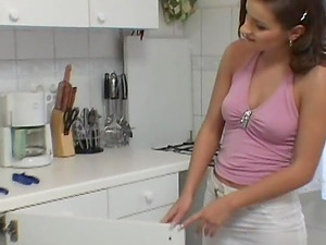 Hot woman pays the plumber with her labia and asshole