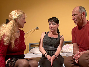 Group romp compilation with German matures and hard dick guys