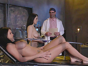 Horny doc has his way with a duo of whorey patients