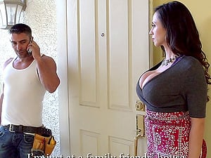 Astonishing Ariella with big knockers taking a giant dick indoors in point of view