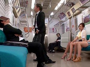 Japanese jizz-shotgun sucking cocksluts love getting nasty in public transport