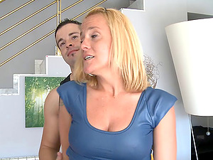 Honey in a shiny and bitchy sundress taunts in public