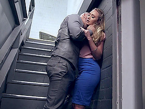Hard-core with hot booty blonde stunner AJ Applegate