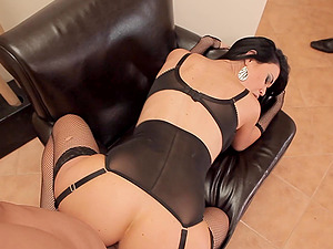 Sexiest chick ever wearing stockings and getting screwed hard