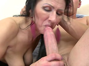 Two big dicks and a sexy mature honey have a threesome