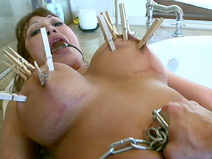 Memorable Sadism & masochism session for a chick with the arousing kinks