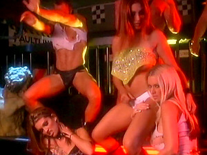 Sublime sex industry stars in group hump at a club ravishing each other