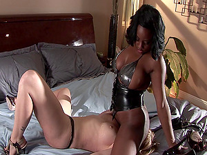 Tattooed milky lady eventually has a g/g session with a black damsel