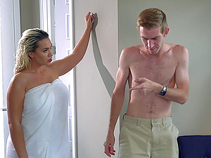 Blonde with the most ideal figure is ready to take it into asshole