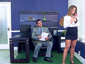 Nerdy chick Layla London just can't wait to get shagged hard!