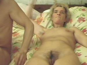 Bitchy granny Corrie loves having her hirsute twat slammed
