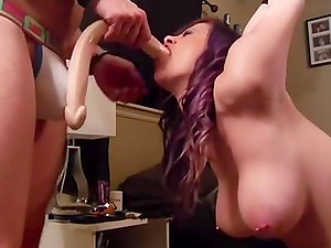 Tied Up Defenseless Huge-titted GF Gagging