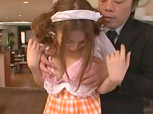 Big tits Asian model tasty cootchie getting ate in romp compilations