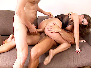 Nerdy stunner called Cindy Buck eventually receives the dual humping