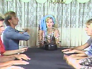 Natural tits doll screaming when pounded gonzo in an orgy group bang-out
