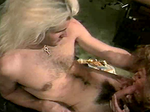Stunner with nice bum getting pounded doggystyle in retro porno