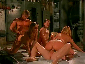 Cowgirl labia worked on hard-core superbly in an orgy group lovemaking