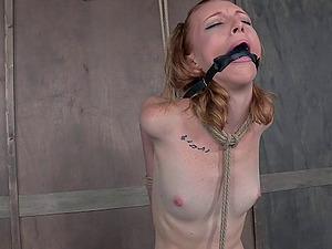 Petite Katy Smooch spreads her gams for her kinky master