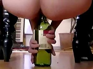 Fucking wine bottle on our dinner table