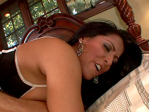 Mature chick Kiara Mia has a good time with her fucking partner's rod