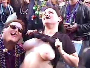 Tits of different size and form unveiled at a wild naturist soiree