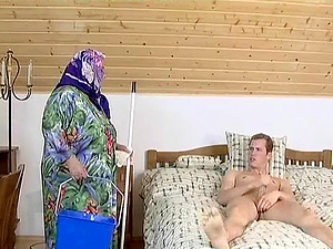 Chubby granny Ida pretty ready for a youthful bulky schlong