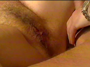 Ripened chick's hairy good divide dicked to the point of screaming