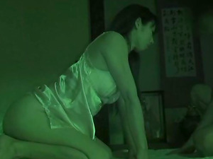 Asian honey was very horny so she got down and dirty and boned after it