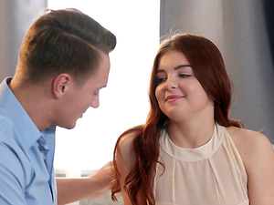 Cutie Renata Fox gives a suck off and gets fucked hard