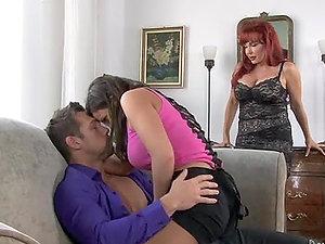 Amazing FFM threesome with Emma Heart and Sexy Vanessa