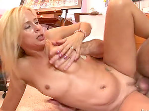Hot blonde Payton Leigh gets rear end style fucked on the floor