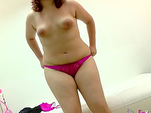 JotaDe using sex toys to pleasure chubby Maria Adan