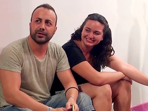 Three dicks for cum-craving and insatiable Aby to play with