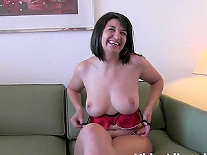 Laura Rey has a great time with a handsome lover's body